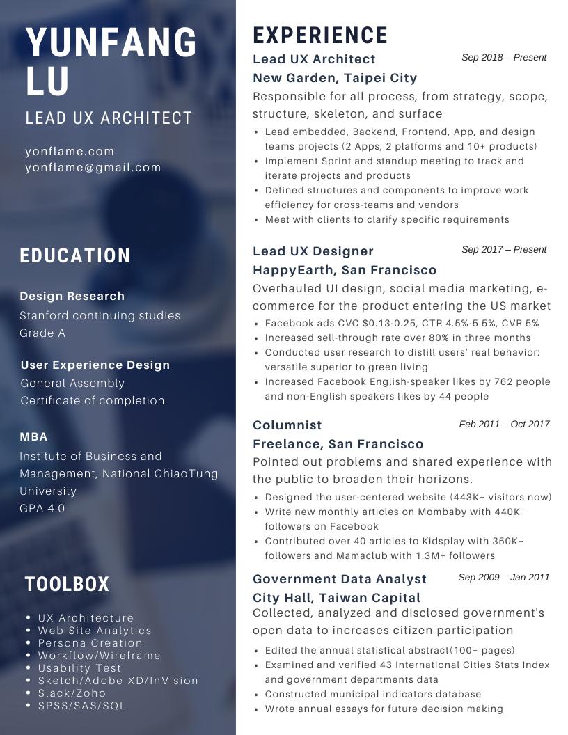 UX Resume