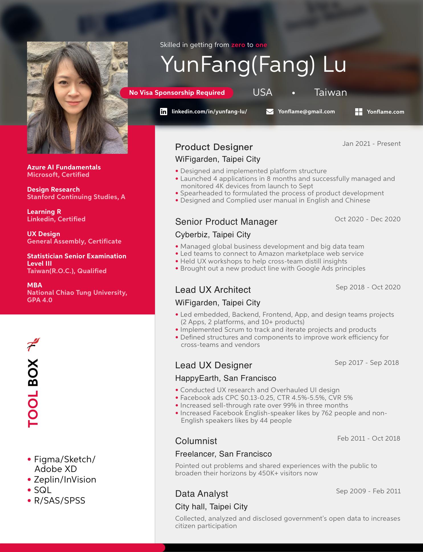 2021 resume png_Fang